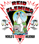 Reid Fleming, World's Toughest Milkman T-shirt #003.
